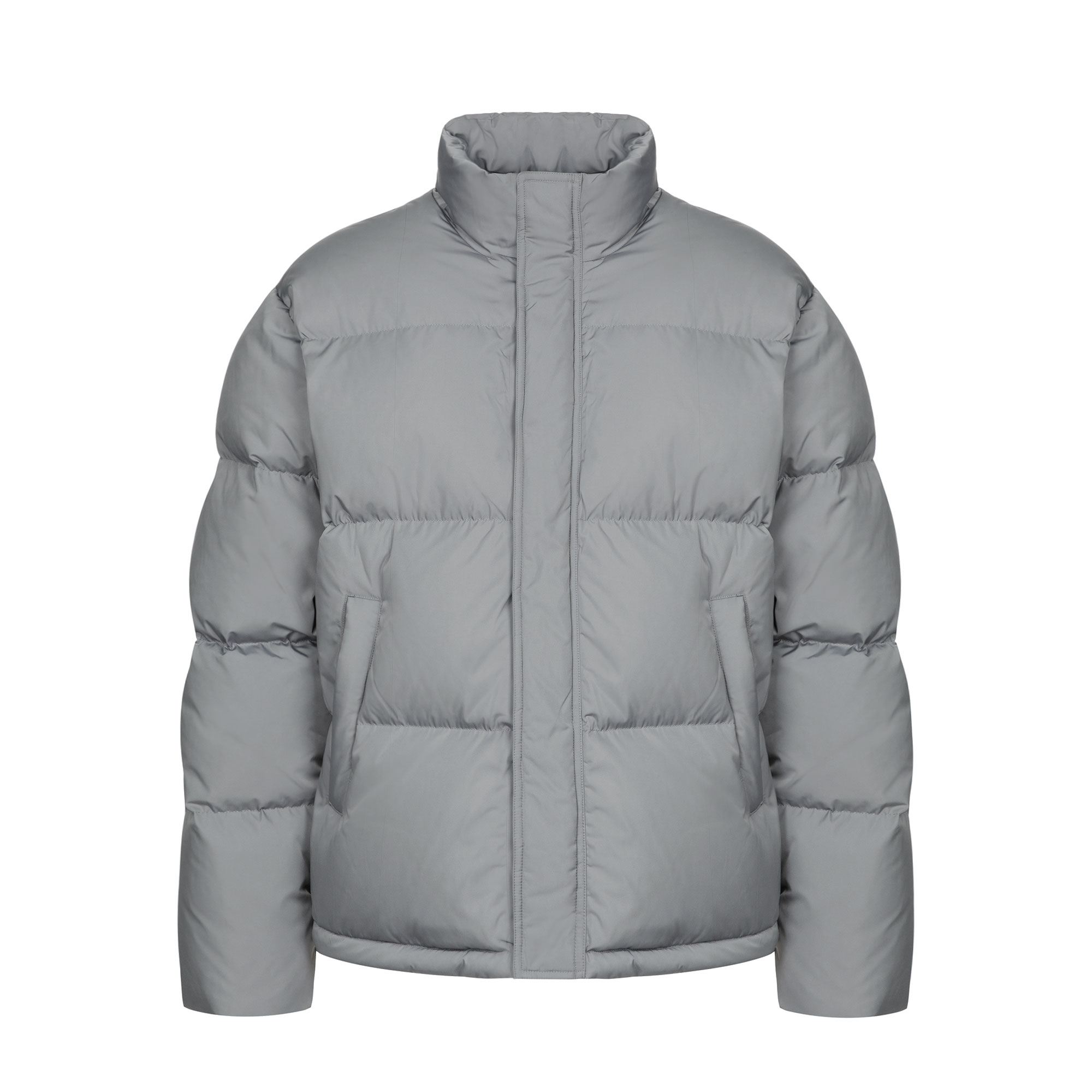 essential puffer down jacket / gray